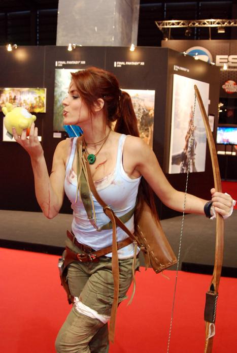 Lara Croft au Paris Games Week