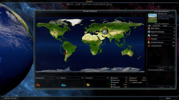 Screenshot de Galactic Civilizations III