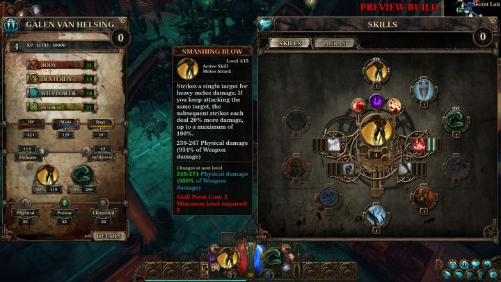 Screenshot de The Incredible Adventures of Van Helsing 3