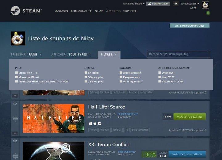 Image de Steam améliore la liste de souhaits