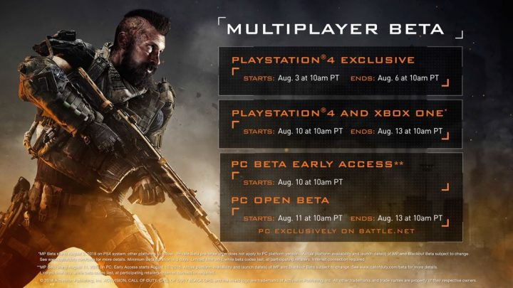Image de Début de la beta de Call of Duty Black Ops 4 pour le 10 août