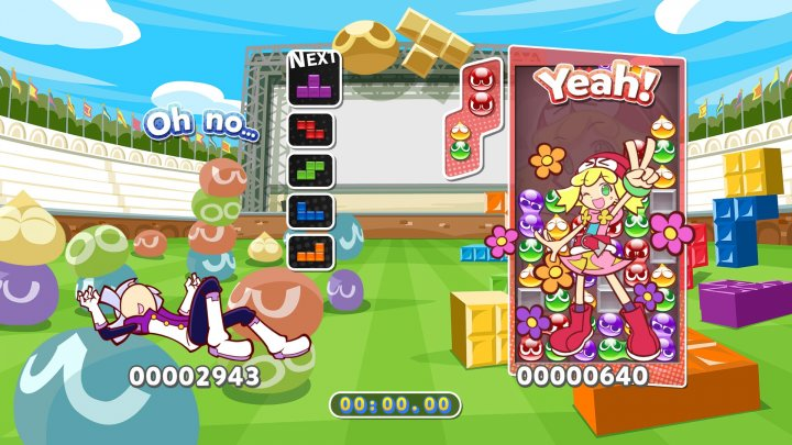 Screenshot de Puyo Puyo Tetris