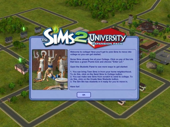 Screenshot de The Sims 2 : University